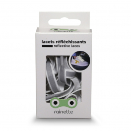 RAINETTE REFLECTIVE SHOE LACES WHITE