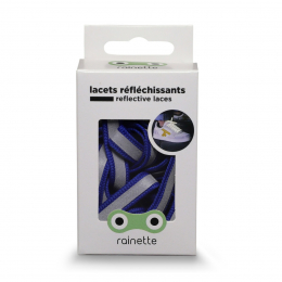 RAINETTE REFLECTIVE SHOE LACES BLUE