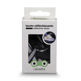 RAINETTE REFLECTIVE SHOE LACES BLACK
