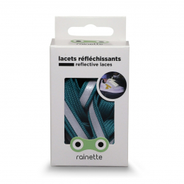 RAINETTE REFLECTIVE SHOE LACES GREEN