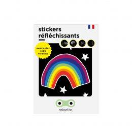 RAINETTE REFLECTIVE STICKERS RAINBOW
