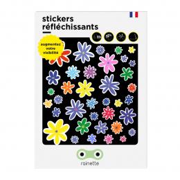 RAINETTE REFLECTIVE STICKERS FLOWERS