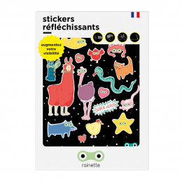 RAINETTE REFLECTIVE STICKERS SUPERHEROES